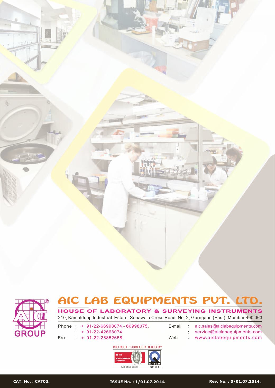 Aic General Laboratory E Catalogue